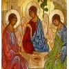The Holy Trinity Icon, The Old Testament Trinity. Copy of Andrei Rublev's Icon