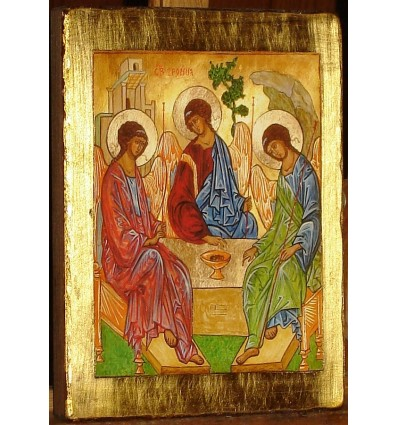 The Holy Trinity Icon, The Old Testament Trinity - Copy of Andrei Rublev's Icon