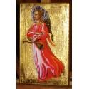 Anioł Stróż Ikona (nimb srebrny)