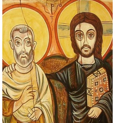 Christ and his Friend, The Icon of Friendship, Christ and Abbot Mena