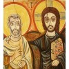 The Icon of Friendship - Christ and Abba Menas - Christ and his Friend