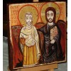 The Icon of Friendship - Christ and Abbot Mena, Christ and his Friend
