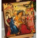 Ikona Pokłon Trzech Króli, Trzech Mędrców. Boże Narodzenie - Ikona
