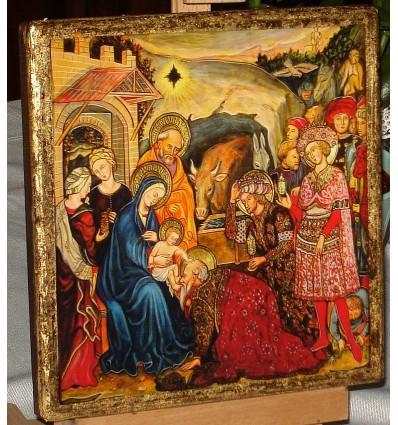 Three Kings, Three Wise Men, The Magi. Christmas Icon