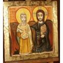Chrystus z Przyjacielem, Ikona Przyjaźni, Chrystus i Abba Menas