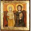 Chrystus i Abba Menas - Ikona Przyjaźni - Chrystus z Przyjacielem