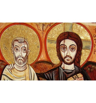 The Icon of Friendship, Christ and Abba Menas, Christ and his Friend