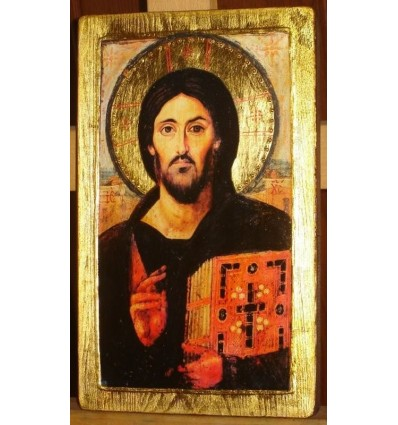 Christ Panthocrator, copy of the icon from St. Catherine Monastery, Sinai VI century. Internet Shop with Icons