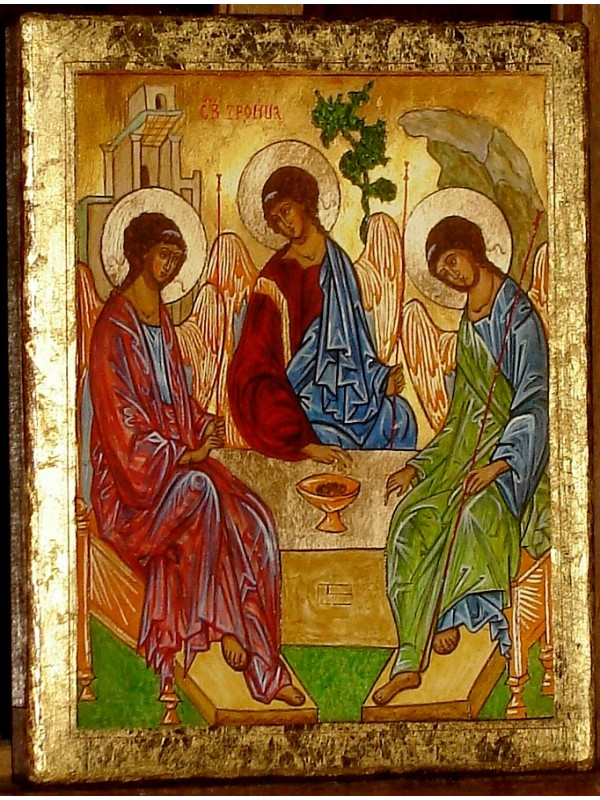 The Holy Trinity Icon, The Old Testament Trinity Icon. Copy of Andrei Rublev's Icon